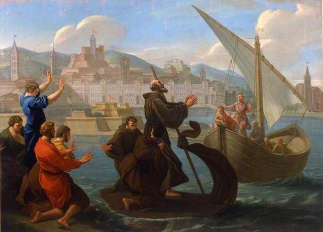 San Francesco di Paola viaggia nello Stretto