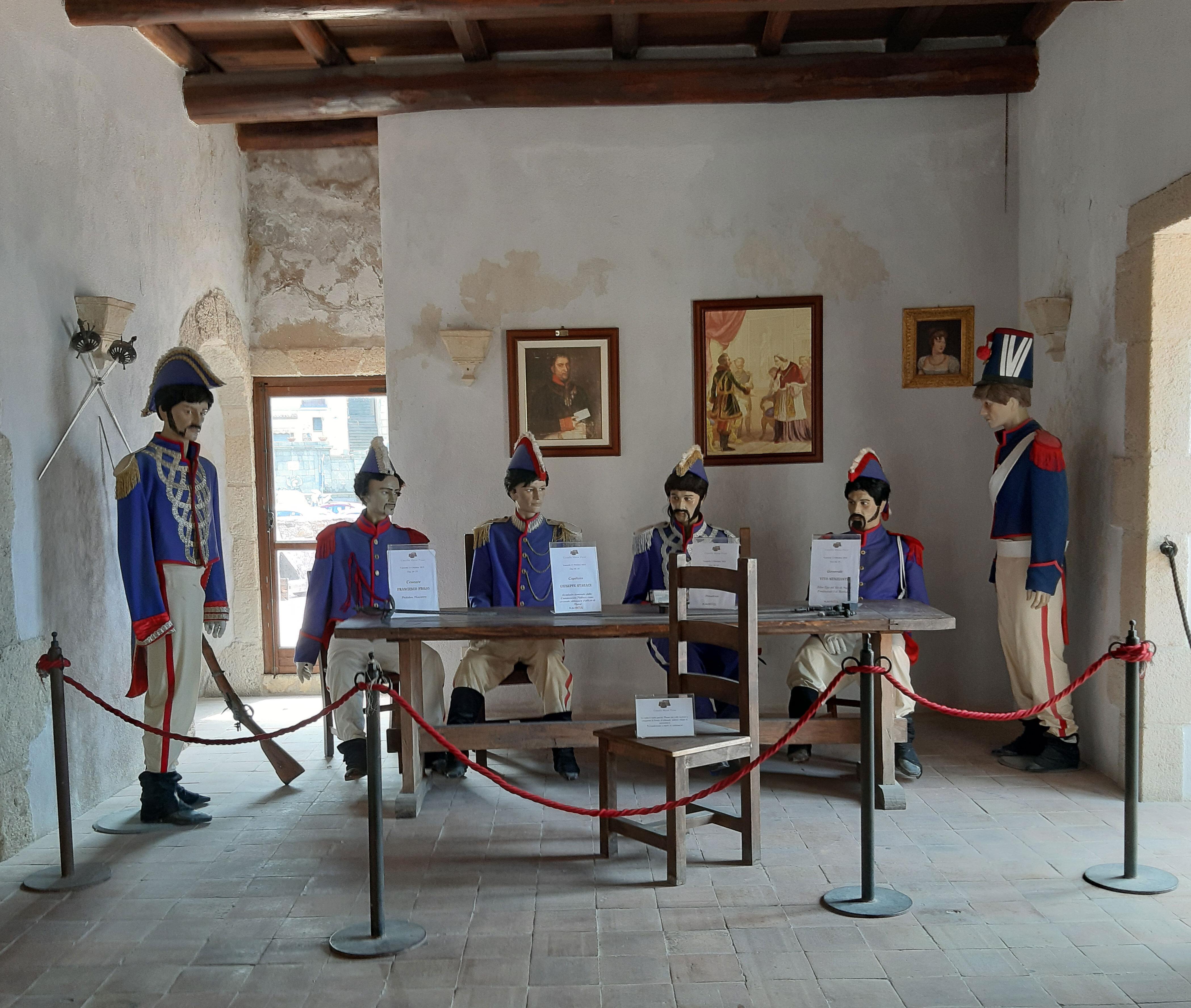 Pizzo, castello, processo farsa Murat